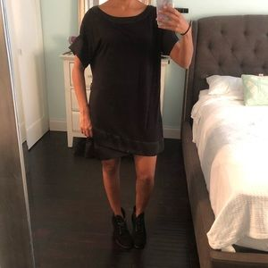 AX Armani Exchange black knit dress